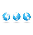 colored world map globe vector image