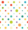Colorful spotted seamless pattern vector image vector image