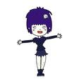 comic cartoon happy vampire girl vector image vector image