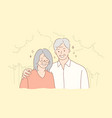couple relationship embrace love concept vector image vector image