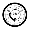 Customer service 247 application icon vector image