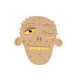 cute dead man head avatar in cartoon style vector image vector image