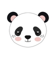 cute little bear panda animal character vector image vector image