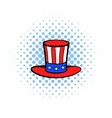 Cylinder in the USA flag colors icon comics style vector image vector image