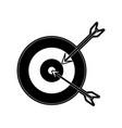 darts on bullseye icon image vector image vector image