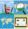 Different types of travel Business travel concept vector image vector image