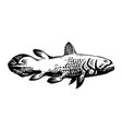 dinichthys prehistoric fish lobe-finned fish vector image