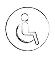 disable person silhouette icon vector image vector image