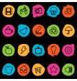distressed application icons vector image vector image