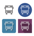 dotted icon bus in four variants with short vector image vector image