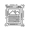 e-commerce interface icon hand drawn icon set vector image vector image