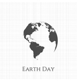 Earth Day greeting Card Design vector image