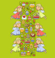 easter card with icons on green backgroun vector image vector image