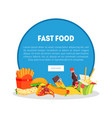 fast food restaurant banner landing page template vector image vector image