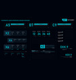 futuristic user interface design element set 01 vector image vector image
