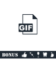 GIF format icon flat vector image vector image