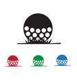 golf icon vector image vector image