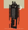 halloween movie night artistic poster idea