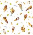 ice cream seamless pattern fresh cold summer vector image