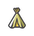indian wigwam home icon cartoon vector image vector image