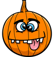 jack lantern cartoon vector image