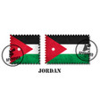 jordan or jordanian flag pattern postage stamp vector image