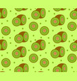 kiwi seamless pattern kiwifruit endless vector image vector image