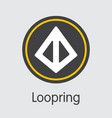 loopring cryptographic currency coin icon vector image vector image