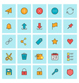 Mail and user interface icons icon set in flat vector image