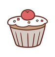 mini cake vector image