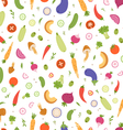 Mixed vegetables seamless pattern vector image vector image