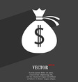 Money bag icon symbol Flat modern web design with vector image
