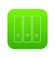 office folder icon green vector image vector image