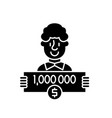 one million dollars black icon sign on vector image
