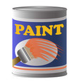 paint can icon cartoon style vector image vector image