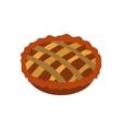 Pie icon flat vector image vector image