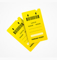 realistic 3d detailed parking tickets set vector image