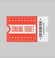 red cinema ticket vector image vector image