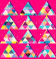 red triangles seamless pattern vector image vector image