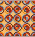 round retro colors geometric rapport vector image vector image