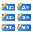 sale colorful tags banners stickers offer vector image