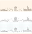 salt lake city hand drawn skyline vector image vector image