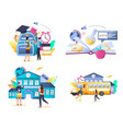 school and education isolated vector image