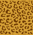 seamless leopard pattern design animal brown tile vector image vector image