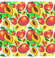 seamless pattern mango fruits exotic ornament vector image vector image