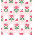 seamless with cute bunnies and vector image