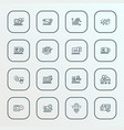 seo icons line style set with online consulting vector image vector image