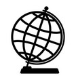 silhouette of the globe vector image vector image