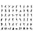 silhouettes figure skaters vector image vector image