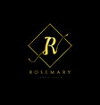 simple elegance initial letter r logo type sign vector image